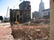Clearing the way for the Kansas City Power & Light District and H&R Block Inc. headquarters meant massive construction work in Downtown, including the demolition of the old Jones Store.