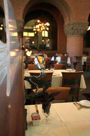 EBT Restaurant decor includes links to its roots as the namesake to one-time downtown Kansas City department store Emery Bird Thayer.