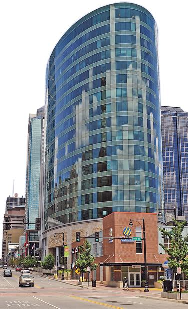 H&R Block's headquarters is at 13th and Main streets in downtown Kansas City.