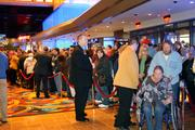 Doors open to the public after opening ceremonies at Hollywood Casino at Kansas Speedway.