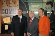 L to R: Bill Cobb, CEO; Henry Bloch, co-founder, and Tom Bloch, Henry's son and former HRB CEO.