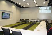 H&R Block's new training room next to the new tax preparation office.