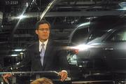 Kansas Governor Sam Brownback thanks General Motors for making a $600 million investment in its Fairfax Assembly Plant in Kansas City, Kan., to construct a new paint shop and add new stamping equipment.
