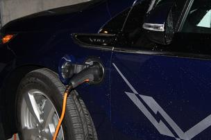 Kansas City's first municipal electric vehicle charging stations are at the Arts District Garage at the Kauffman Center for the Performing Arts.