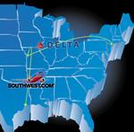 Delta, Southwest plan new flights out of Kansas City