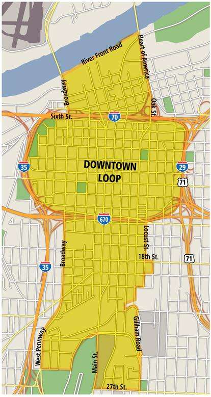Here is the proposed Transportation Development District for the Main Street streetcar line.