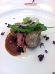 Debbie Gold's bone marrow, marble potato, sweet onion and sorrel was one of the menu items local chefs offered national food writers.