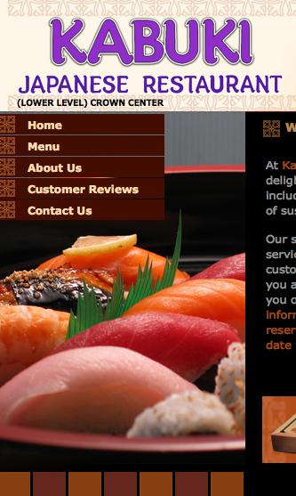 Kabuki Japanese Restaurant, whose website is pictured, will stay at Crown Center after settling a dispute with its landlord.