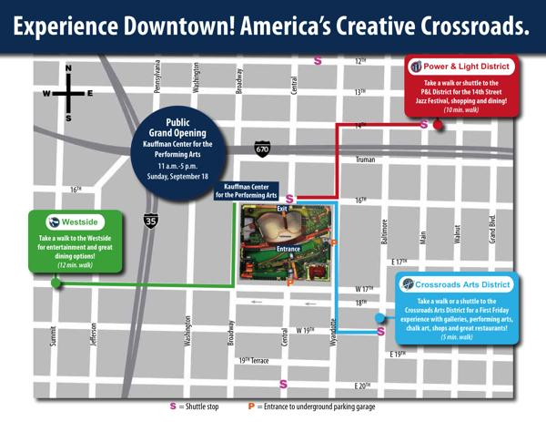 Scroll to the bottom of the story to download a larger version of this map of Kansas City attractions near Kauffman Center for the Performing Arts.