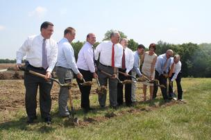 Officials break ground on a $42 million plant in Liberty that's expected to bring 156 new jobs. The plant for LMV Automotive Systems, a part of Magna International Inc., will supply Ford Motor Co.'s Kansas City Assembly Plant.
