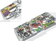 A rendering of the floor plan of the $15 million Legoland Discovery Center being built at Crown Center in Kansas City.