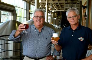 Mike Magoulas (left) and John McDonald, Boulevard Brewing Co.