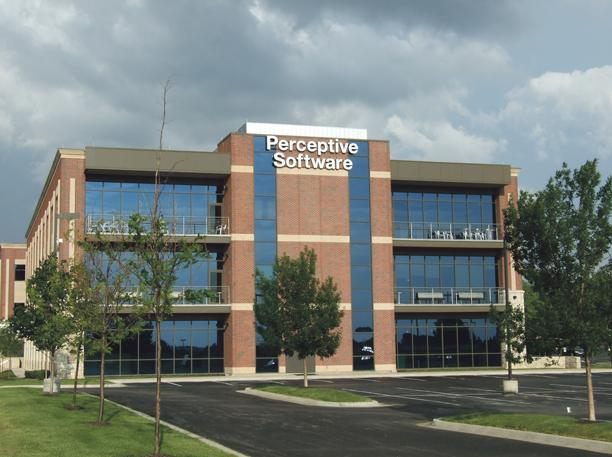 Rapidly growing Perceptive Software, currently based in Shawnee, plans a new headquarters in Lenexa.