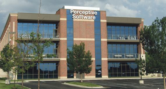 Perceptive Software employs about 600 people at its Shawnee headquarters.