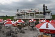 Paddleboats formerly used for decoration have been anchored and now are part of the River Haus restaurant in the park.