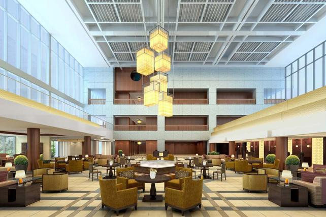 Starwood Hotels & Resorts Worldwide plans $13 million in renovations at the former Hyatt Regency Crown Center, now the Sheraton Kansas City Hotel at Crown Center. This is an artist's rendering of renovations to the hotel's lobby.