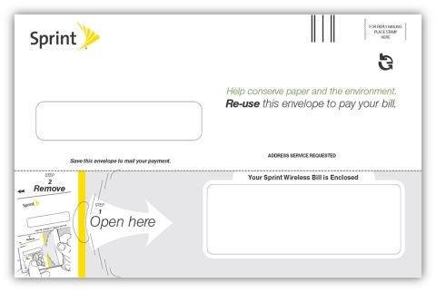 Sprint Nextel Corp.'s new two-way ecoEnvelope is made by Kansas City-based Tension Envelope Corp.