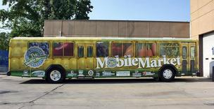 The TMC Healthy Harvest Mobile Market aims to make fresh fruit and vegetables and other nutritious items available in Kansas City's urban core.