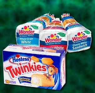 Hostess Twinkies Wonder Bread