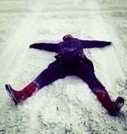 """@AllisonThinkBig tweeted: """"@araletzKCBJ here is my #kcbjsnow photo! A snow angel in the RiverMarket :) pic.twitter.com/yBuJjoT22m"""""""
