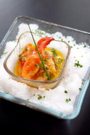 Mestizo's ceviche, or raw seafood, bar includes items such as this lobster ceviche.