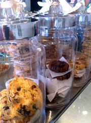 Natasha's Mulberry and Mott owner Natasha Gollener says her favorite treat to bake is cookies, such as these large ones for sale at her Plaza store.