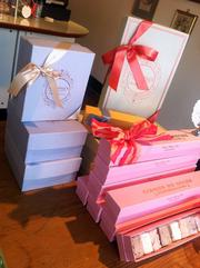 Natasha's Mulberry and Mott sells gift boxes containing its macarons and marshmallows.