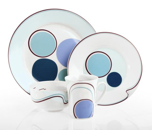 Sheila Kemper Dietrich's new line of Livliga tableware helps diners control portions.