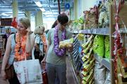 Early shoppers at Kansas City's first Trader Joe's were greeted with leis.