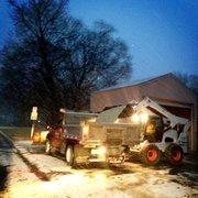 "@WeatherorNotInc tweeted: @araletzKCBJ Here is a pic that Sara Croke took y'day morning of Fairway Public Works preparing as the snow began - ow.ly/hXsLL"""