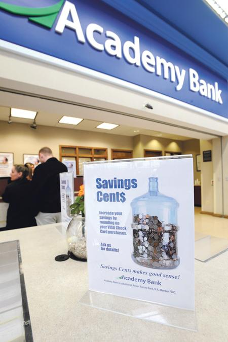 Academy Bank aims to attract depositors with locations like the one in the Walmart at 135th Street and State Line Road in Kansas City. Many in-store locations formerly were Bank Midwest branches.