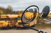 Apple Bus Co. parks some of its school buses in a lot in Belton.