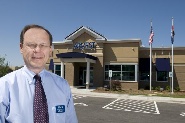 Mark Larrabee, Kansas City-area CEO of Arvest Bank, says the bank has opened its first from-the-ground-up branch in Lee's Summit.