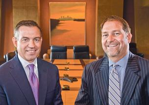 Ron Lockton (left) and Rick Kahle are presidents at Lockton Cos. Inc.