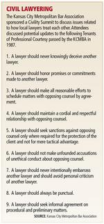 Kansas City Metropolitan Bar Association tries to elevate courtroom civility