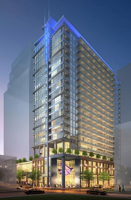 This is an artist's rendering of the proposed 23-story, 250-unit residential tower at 13th and Walnut streets.