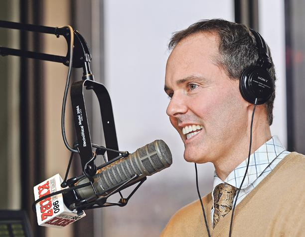 """Mark McDougald, CEO of FirsTrust Mortgage, talks on the company's weekly radio show, """"Truth in Lending,"""" on 980 KMBZ-AM. The program plays a key role in what the company considers a bedrock of its success: financial literacy."""