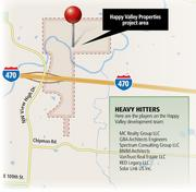 The Happy Valley Properties project area straddles Interstate 70.