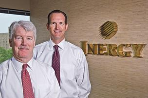 John Sherman (left), CEO of Inergy LP, and CFO Brooks Sherman