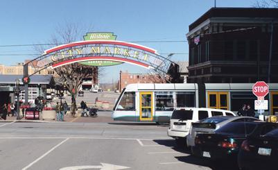 The proposed streetcar line would run from the River Market to Crown Center along Main Street.