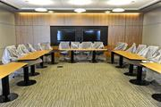 The boardroom is among a variety of spaces available for use by industry partners.