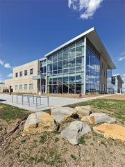 The International Animal Health and Food Safety Institute is the first building on the K-State Olathe Innovation Campus.