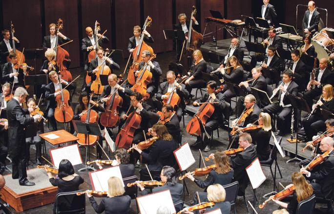 The Kansas City Symphony has left the Lyric Opera facility to play in the Kauffman Center for the Performing Arts.