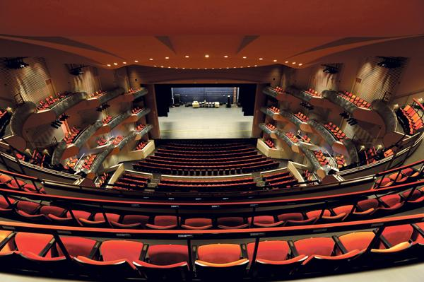 The Muriel Kauffman Theatre is one of two world-class performance venues inside the Kauffman Center for the Performing Arts.