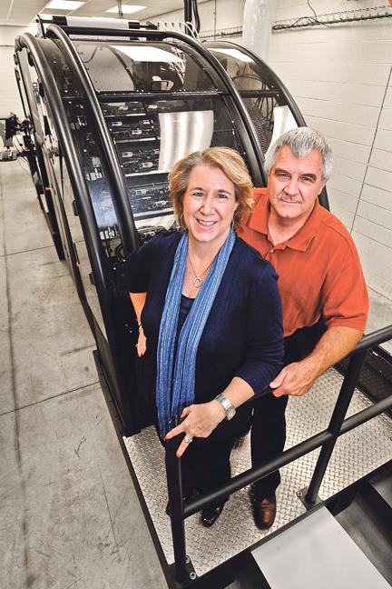 Mail Print Inc. CEO Gina Danner and her brother, President Eric Danner, expect their new press and other upgrades to help attract more mail-order business.