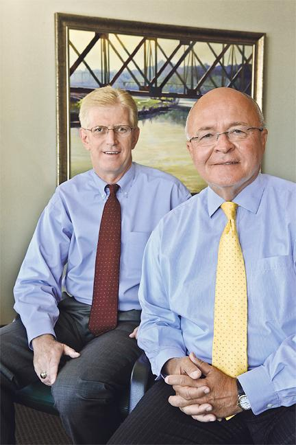 Mark Eagleton (left), senior vice president and Kansas City market executive for Bank of America's U.S. Trust, says Jack Ovel (right), its Midwest regional vice chairman, is one of the industry's most experienced and respected wealth management veterans.