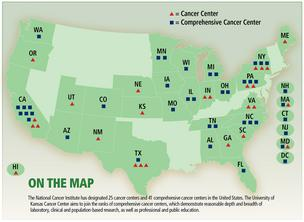 Comprehensive Cancer Centers map