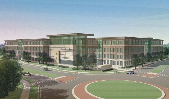 This is a rendering of Perceptive Software's planned new headquarters in Lenexa.