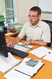 Scott Penderis, director of finance at ProPharma Group, works on the company's payroll.