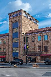 The Skelly Building is its own community improvement district, covering one block within the Country Club Plaza.